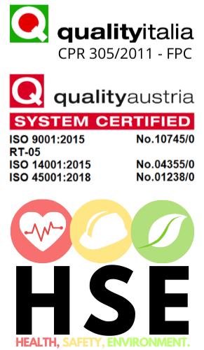 Certificazioni HSE Ediltevere